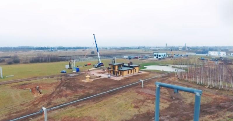 Skyway tesztpark ecotechnopark építkezés fotó 1