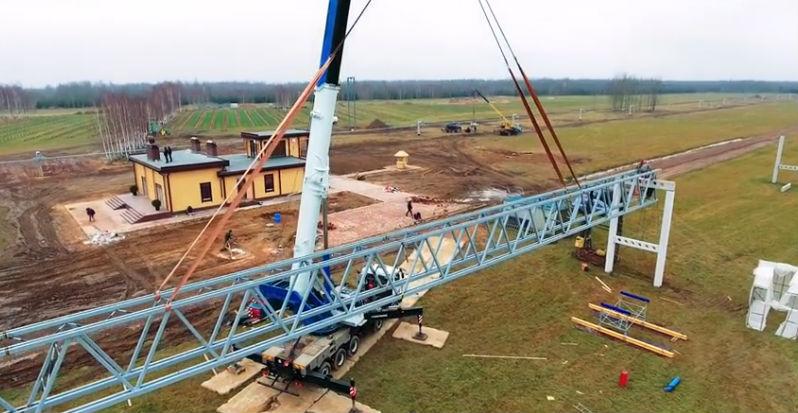 Skyway tesztpark ecotechnopark építkezés fotó 3